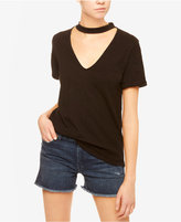 Sanctuary V-Neck Choker T-Shirt