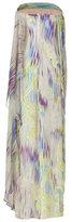 Matthew Williamson Mauve and Peridot Printed Silk Gown