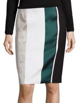 BOSS Vastrina Striped Pencil Skirt