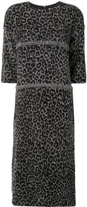Comme des Garçons Comme des Garçons Leopard Print Structured Shift Dress