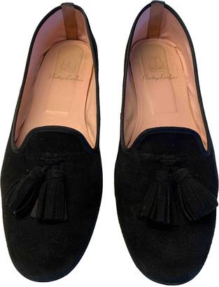 Pretty Ballerinas Black Suede Flats