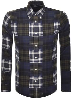 Barbour Beacon Long Sleeve Mix Check Shirt Green