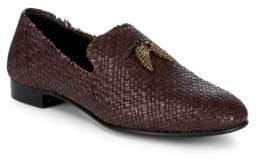 Giuseppe Zanotti Basketweave Leather Loafers
