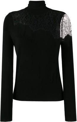 Liu Jo Lace Panel Fine Knit Sweater