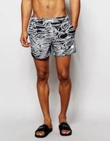 NATIVE YOUTH Brush Stroke Print Swim Shorts