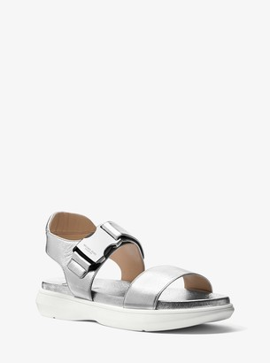 Michael Kors Rhodes Metallic Nappa Leather Sandal