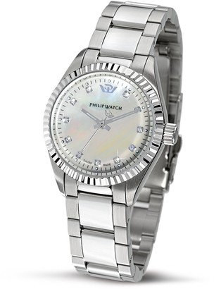Philip Watch Caribe Lady 3h Ss White Mop Dial/Br.