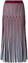 Kenzo striped knitted pleated skirt