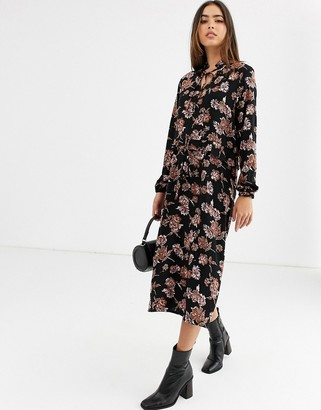 B.young floral midi dress