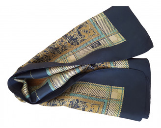Liberty of London Designs Khaki Silk Scarves