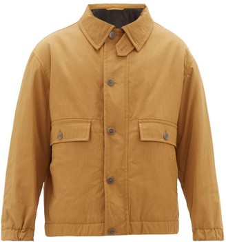 Raey Chest-pocket Cotton-blend Jacket - Brown