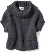 Old Navy Cowl-Neck Poncho for Toddler Girls