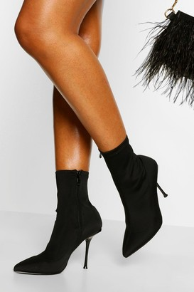 boohoo Stiletto Pointed Toe Shoe Boot