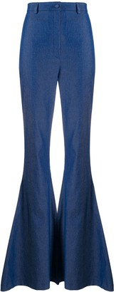 Hebe Studio Flared High-Rise Trousers