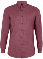 Topman Topman Long Sleeve Texture Shirt