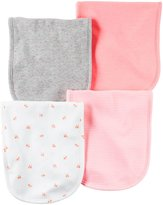 Carter's 4 Pack Burp Cloths - Pink - One Size