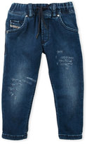Diesel Boys 4-7) Distressed Slim Fit Jeans