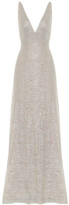 Costarellos Larista sequined gown