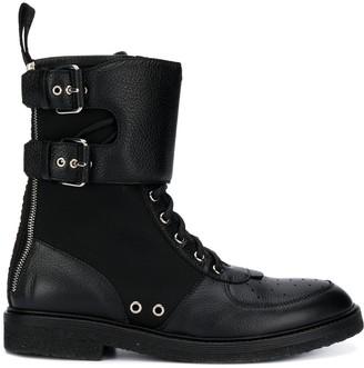 Balmain Ranger bi-material boots