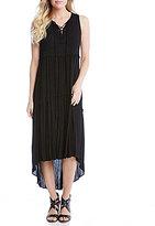 Karen Kane Lace-up Hi-low Dress