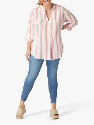 Live Unlimited Chambray Stripe Shirt, Pink Raspberry