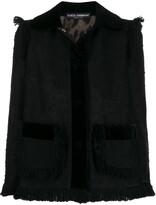 Dolce & Gabbana fringed tweed jacket