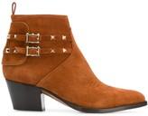 Valentino Garavani Rockstud cowboy ankle boots