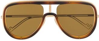 Fendi Eyewear Framed Aviator Sunglasses