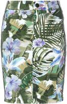 Marc Cain leaf print skirt