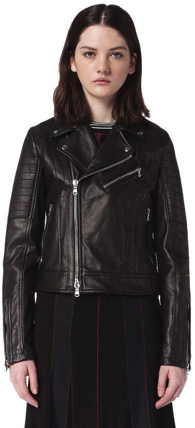 Diesel Black Gold Diesel Leather jackets BGPSJ - Black - 38