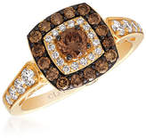 LeVian Corp LIMITED QUANTITIES Le Vian Grand Sample Sale Chocolate Diamonds & Vanilla Diamonds Ring set in 14K Honey Gold No Color Family
