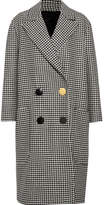 Petar Petrov Double-breasted Houndstooth Wool Coat - Black