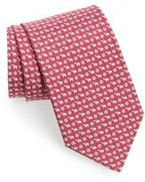 Salvatore Ferragamo Men's Bear Print Silk Tie