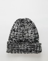 7x Cable Banie Hat In Black Marl