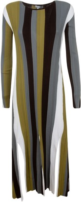Loewe Ribbed Stripe Knit Dress