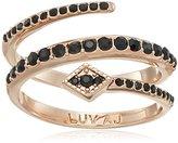 "Luv Aj In Full Bloom"" The Diamond Kite Coil Rose Gold Adjustable Ring, Size 5.5-6.5"