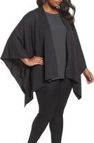 Eileen Fisher Plus Size Women's Reversible Wool Blend Serape