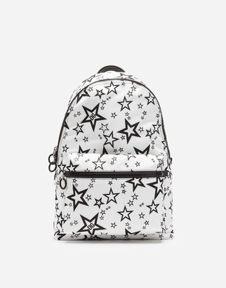 Dolce & Gabbana Mixed Star Print Vulcano Backpack In Nylon
