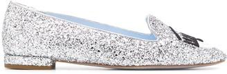 Chiara Ferragni Flirting Eye glitter ballerina shoes