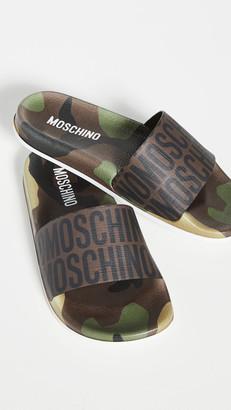 Moschino Mule Logo Slides