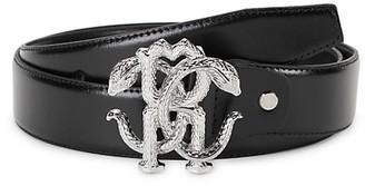 Roberto Cavalli RC Buckle Leather Belt