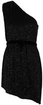 retrofete Ella Black One-shoulder Sequin Mini Dress