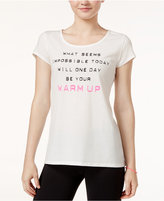 Jessica Simpson The Warm Up Mesh-Back Graphic T-Shirt