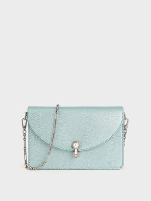 Charles & Keith Turn-Lock Clutch