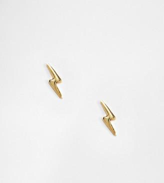 Kingsley Ryan gold plated lightening bolt stud earrings