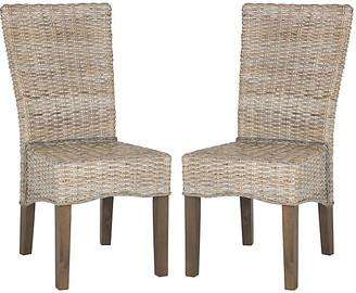 One Kings Lane Set of 2 Ozias Side Chairs - White