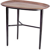 L'OBJET Tulum Ceramic & Brass Platter Side Table