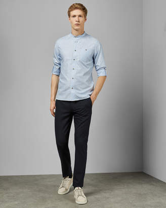 Ted Baker STUART Grandad collar cotton shirt