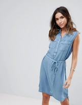 Brave Soul Clear Denim Wash Shirt Dress
