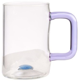 And Jacob Glass Tea Cup With Pink Handle